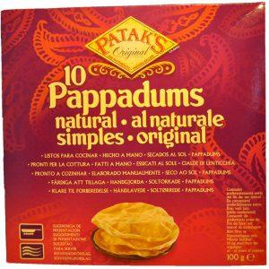 Pappadums Naturell - 63% rabatt