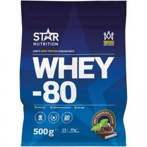 "Proteinpulver ""Whey 80 Mint Chocolate"" 500g - 56% rabatt"