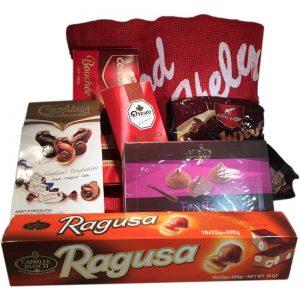 Säck full med choklad askar - 83% rabatt