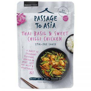 """Sås """"Thai Basil & Sweet Chilli"""" 200g - 50% rabatt"""