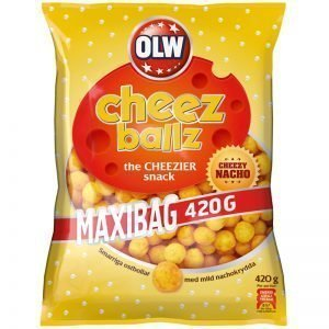 "Snacks ""Cheez Ballz"" 420g - 34% rabatt"