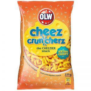 "Snacks ""Cheez Cruncherz"" 225g - 50% rabatt"