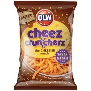 "Snacks ""Cheez Cruncherz Texas Ranch"" 160g - 21% rabatt"