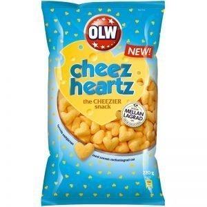 "Snacks ""Cheez Heartz"" 220g - 50% rabatt"