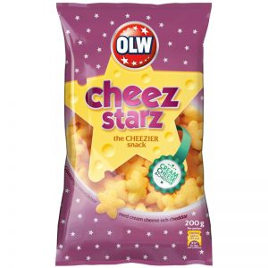 "Snacks ""Cheez Starz"" 200g - 32% rabatt"