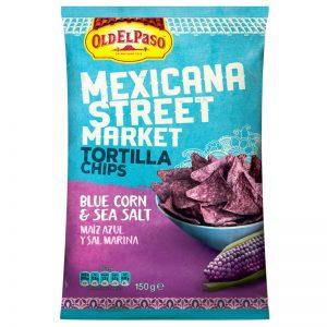 """Tortillachips """"Blue Corn"""" 150g - 25% rabatt"""