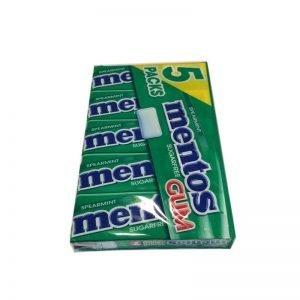 Tuggummi Mentos spearmint 5-pack - 50% rabatt