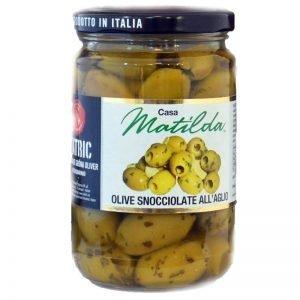 Urkärnade oliver i vitlöksmarinad - 43% rabatt
