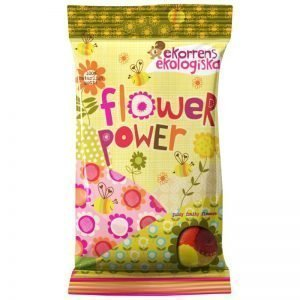 "Eko Fruktgelégodis ""Flower Power"" 80g - 37% rabatt"