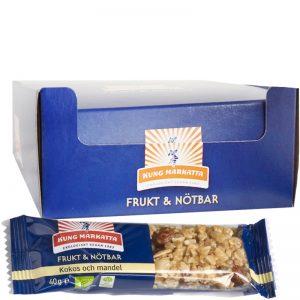 Eko Hel Låda Frukt- & Nötbar Kokos & Mandel 24 x 40g - 64% rabatt