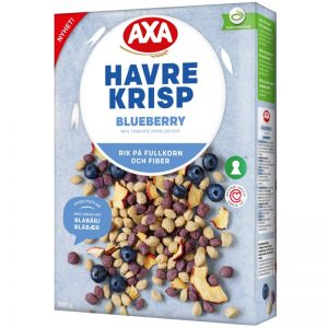 "Havrekrisp ""Blueberry & Apple"" 300g - 34% rabatt"