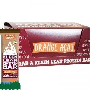 """Hel Låda Proteinbars """"Orange Acai"""" 16 x 50g - 50% rabatt"""