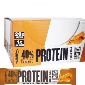 "Hel Låda Proteinbars ""Salted Nuts Caramel"" 24 x 50g - 60% rabatt"