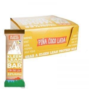 "Hel låda Proteinbars ""Piña Coco Lada"" 12 x 50g - 50% rabatt"