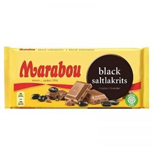 "Mjölkchoklad ''Black"" Saltlakrits 180g - 35% rabatt"