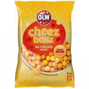 "Snacks ""Cheez Ballz"" 160g - 33% rabatt"