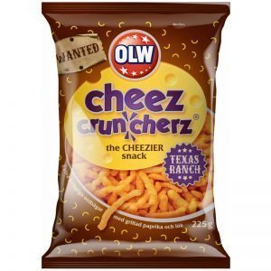 "Snacks ""Cheez Cruncherz Texas Ranch"" 225g - 25% rabatt"