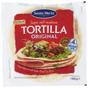"""Tortillabröd """"Original"""" Medium 160g - 20% rabatt"""