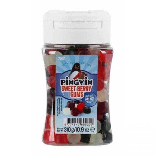 """Godis """"Pingvin Berrygums Pastill"""" 320g - 36% rabatt"""