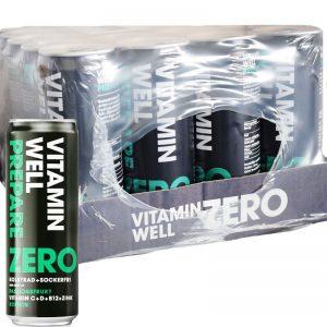 "Hel låda ""Vitamin Well Prepare Zero"" Passionfrukt 24 x 355ml - 56% rabatt"