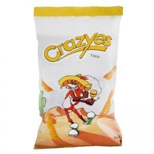 "Majschips ""Crazyes"" Taco 125g - 25% rabatt"