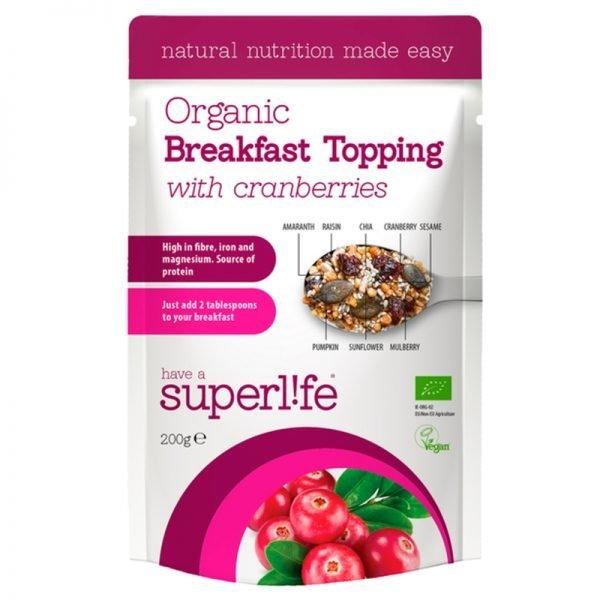 """Eko Frukost Topping """"With Cranberries"""" 200g - 61% rabatt"""