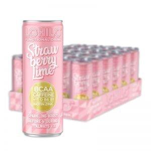 "Hel Låda Dryck ""Lohilo Strawberry Lime"" 24 x 330ml - 47% rabatt"