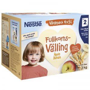 Barnmat Fullkornsvälling Äpple & Banan 3kg - 23% rabatt
