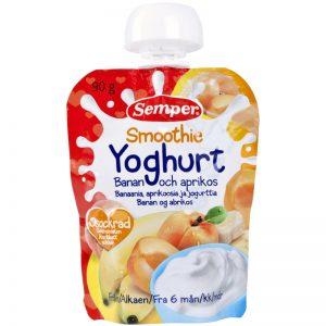 Barnmat Smoothie Yoghurt, Banan & Aprikos 90g - 5% rabatt