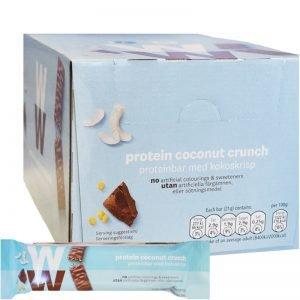 Hel låda Proteinbars Coconut Crunch 24-pack - 33% rabatt
