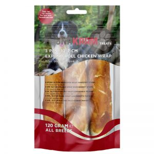 """Hundgodis """"Chicken Wrap"""" 3 x 40g - 38% rabatt"""