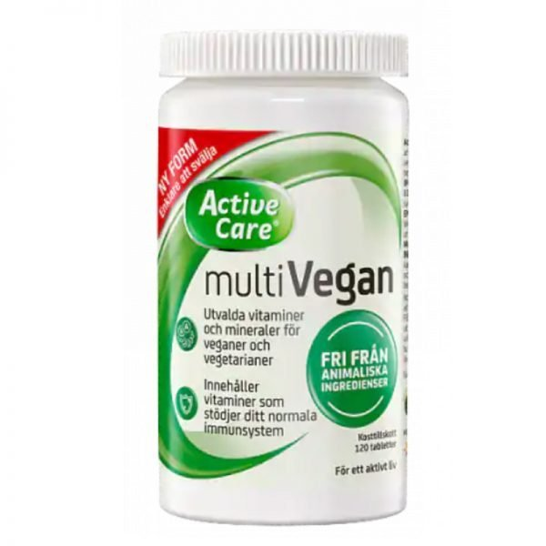 Active Care Multivegan 120 tabletter - 63% rabatt