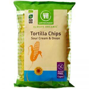 Eko Tortillachips Soucream & Onion 125G - 19% rabatt
