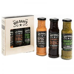 "Grillsåser ""Big Sams"" 3 x 250ml - 78% rabatt"
