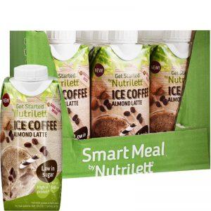 "Hel Låda Måltidsersättning ""Ice Coffee Almond Latte"" 12 x 330ml - 59% rabatt"