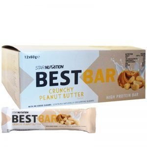 """Hel Låda Proteinbars """"Crunchy Peanut Butter"""" 12 x 60g - 39% rabatt"""