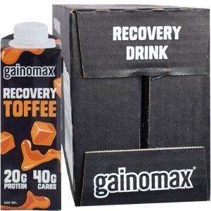"Hel Låda Proteindryck ""Recovery Toffee"" 16 x 250ml - 55% rabatt"