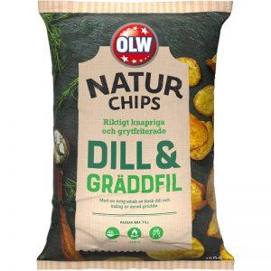OLW Naturchips Dill&Gräddfil 150g - 25% rabatt