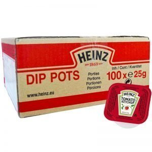 Hel Låda Portionsförpackningar Ketchup 100 x 25g - 51% rabatt