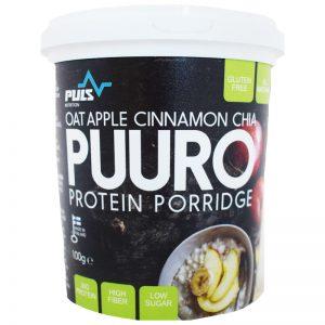 "Proteingröt ""Oat, Apple, Cinnamon & Chia"" 100g - 24% rabatt"