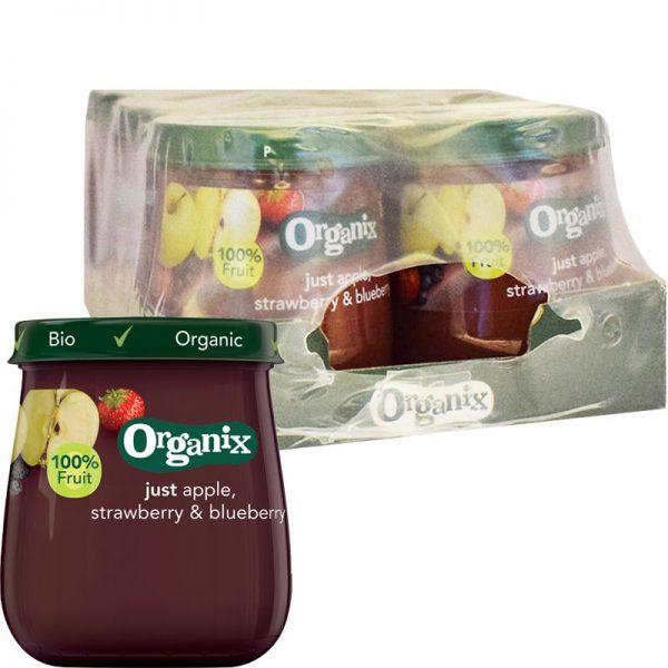 Barnmat Äpple, Jordgubb & Blåbär 6-pack - 29% rabatt