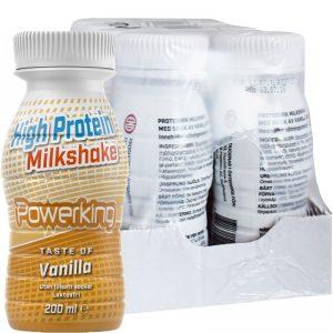 "Hel Låda Proteindryck Milkshake ""Vanilla"" 8 x 200ml - 51% rabatt"