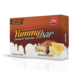 6 x Yummy Bar Crunchy Protein 35 g Flavor: Citron