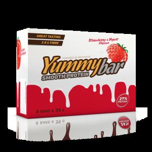 6 x Yummy Bar Smooth Protein 35 g Flavor: Jordgubb-yoghurt
