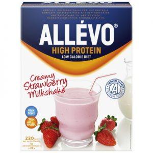 Allevo high protein pulver strawberry milkshake 10p LCD