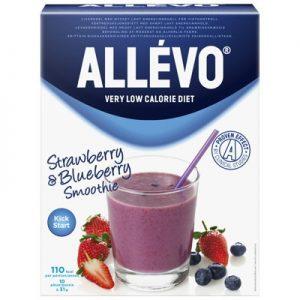 Allevo kick start smoothie jordgubb/blåbär 10p VLCD