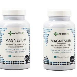 Apotek365 Magnesium 100 kapslar - 2 st burkar