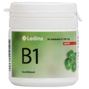 B-1 vitamin 100mg 50 tabletter