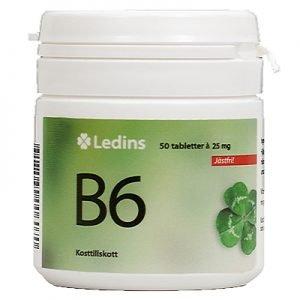 B-6 vitamin 25mg 50 tabletter
