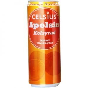 Celsius Apelsin Kolsyrad 355ml
